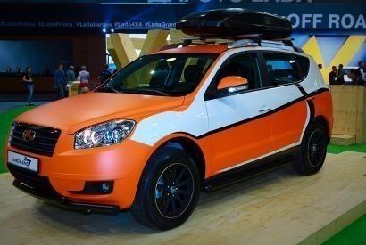 Кроссовер Geely Emgrand X7 на выставке Moscow Off-road show - РУМОС-Комтранс