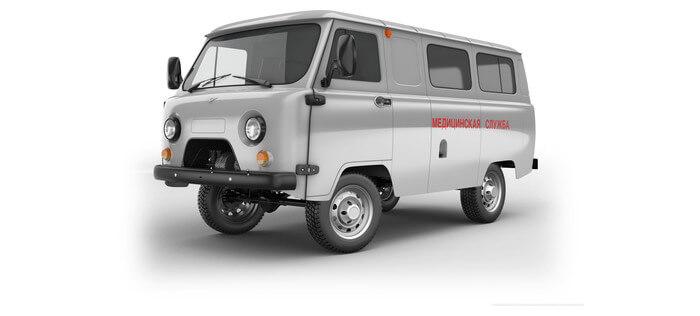 УАЗ Санитарный фургон 2.7 5MT (112 л.с.) 396295-550