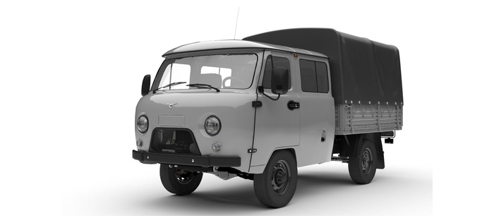 УАЗ Двойная кабина с бортом